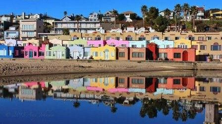 we never stayed here because we just lived in santa cruz but i love the colorful houses all side by side