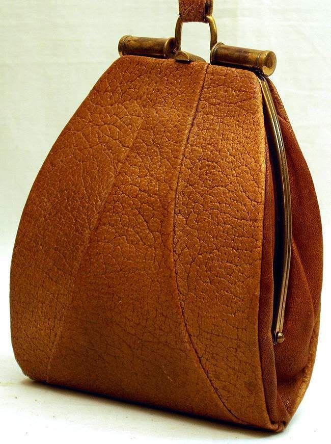 Vintage 1920s Charleston leather handbag, rare