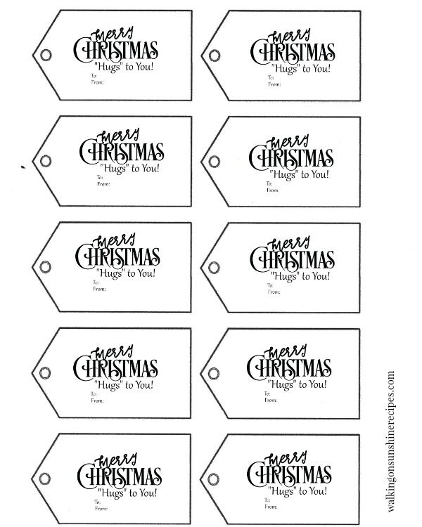Hugs Pretzels The Perfect Christmas Treat With Free Christmas Gift Tags Printable Free Printable Christmas Gift Tags Christmas Gift Tags Printable Templates