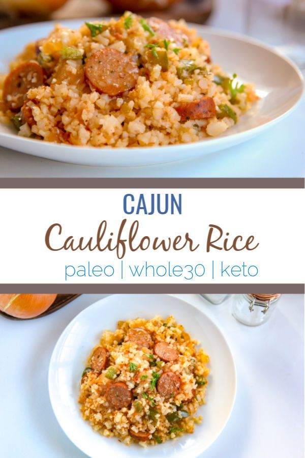 Cajun Cauliflower Rice -   22 riced cauliflower recipes ideas