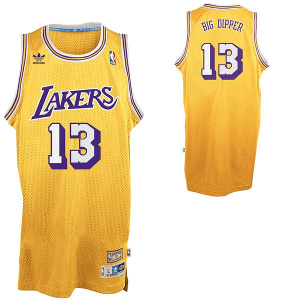 9ce59a611da adidas Wilt Chamberlain Los Angeles Lakers Big Dipper Soul Swingman  Nickname Jersey - Gold -  109.99