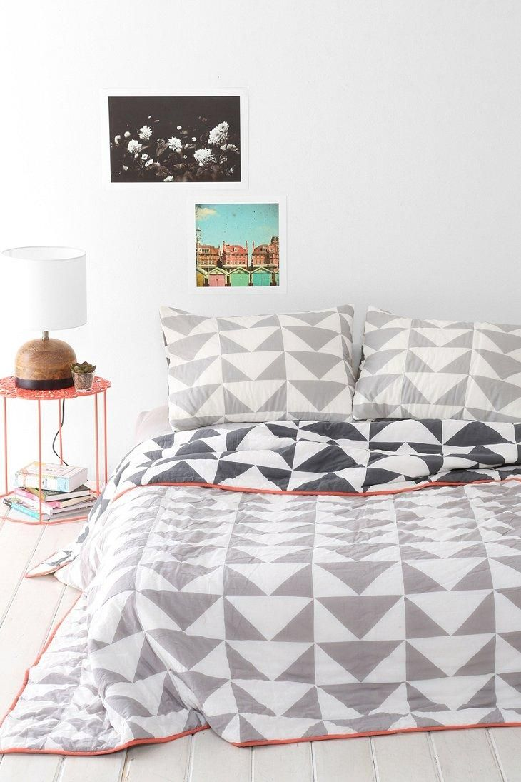 Assembly Home Stacked Triangle Quilt #urbanoutfitters | @urbanoutfitters