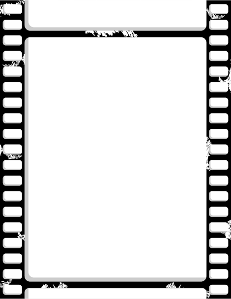 Printable film strip border free gif jpg pdf and png for Printable film strip template
