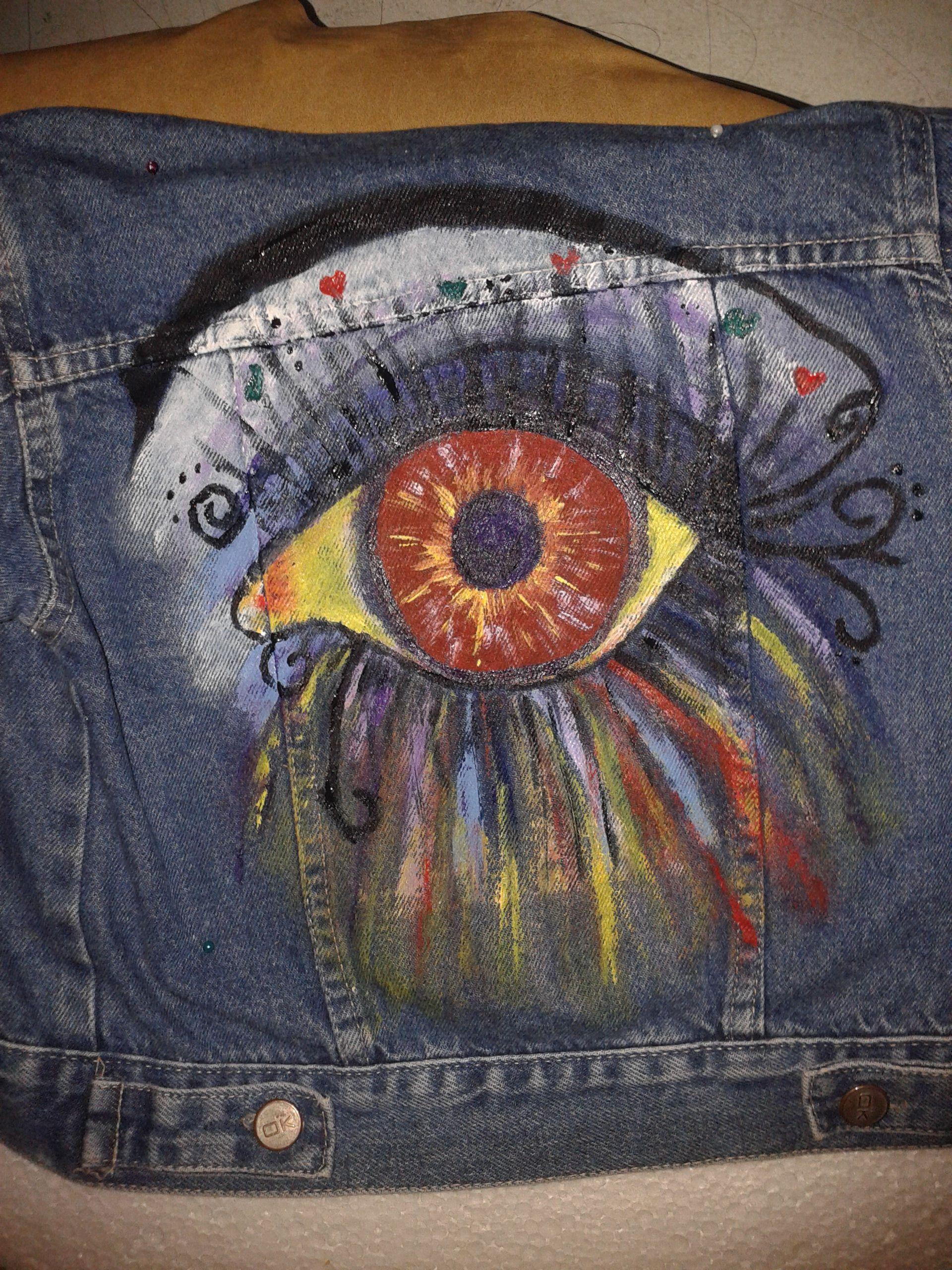 campera jeans pintada   Jeans pintados