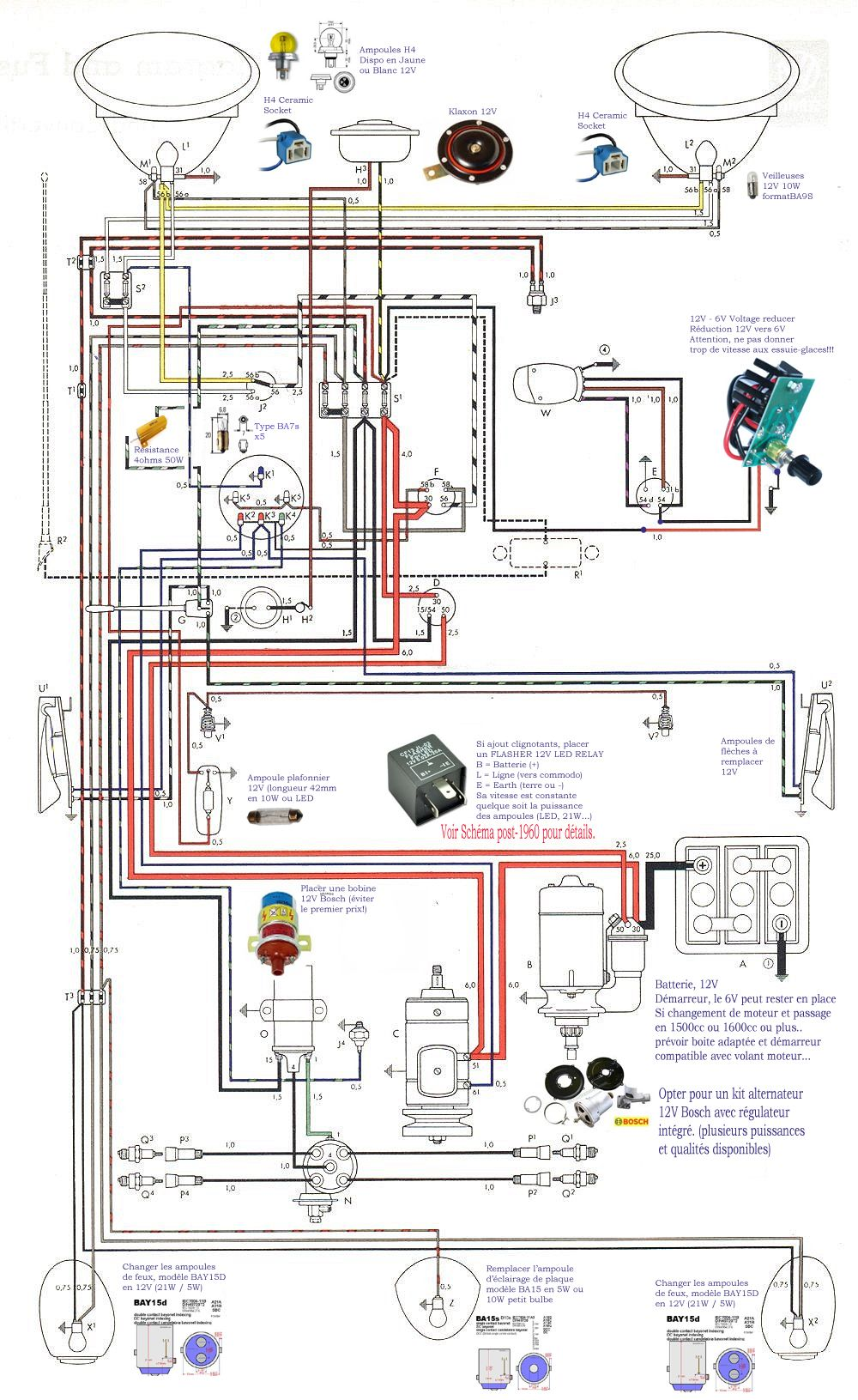 Vw Wiring Conversion 6v 12v Ovale