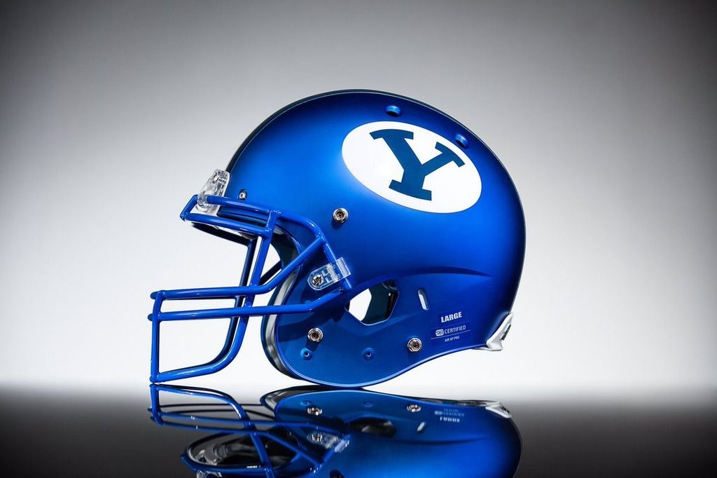 Byu Royal Blue Helmet Byu Cougars Byu Football Football Helmets