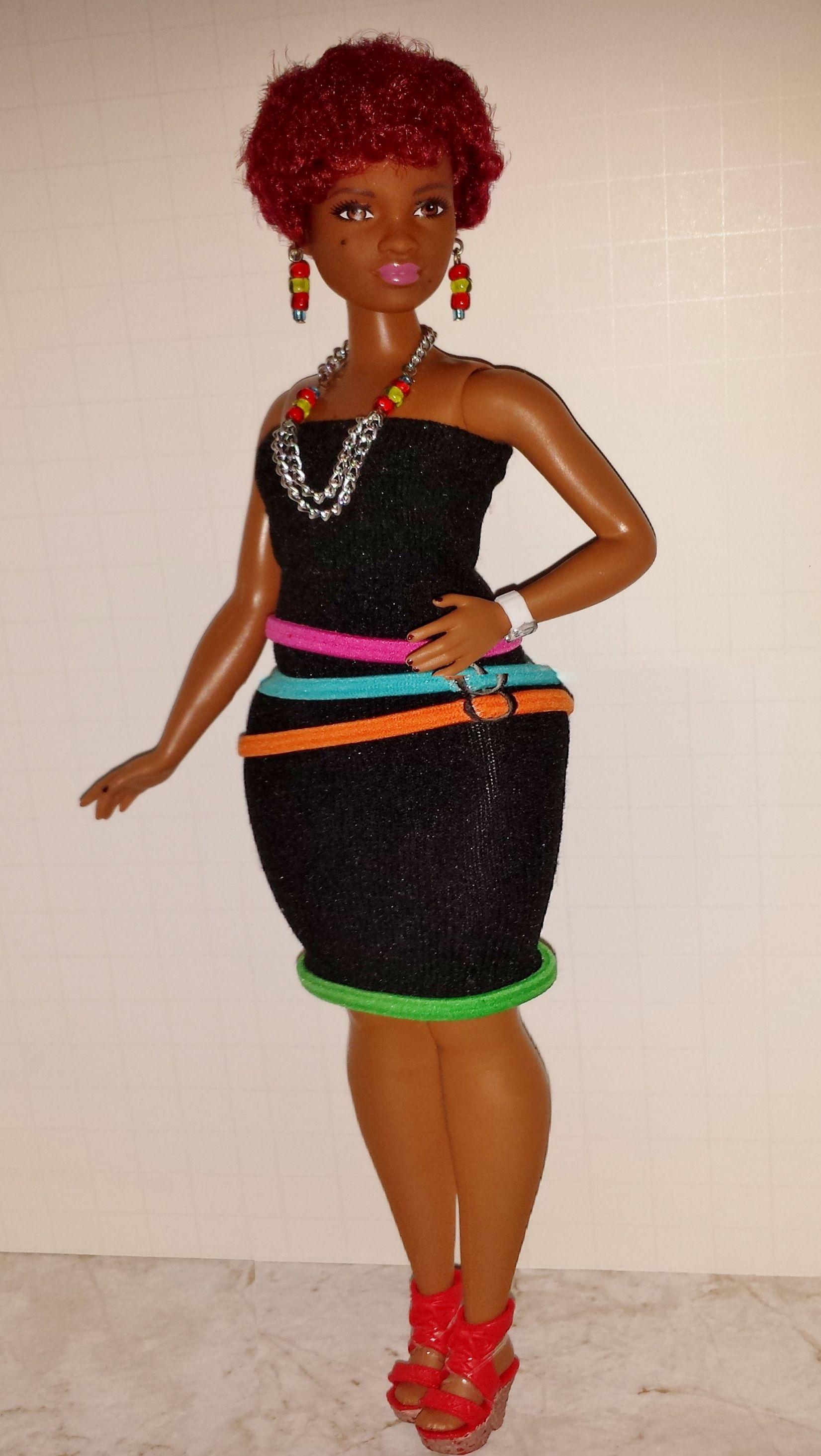 Curvy Fashionista Barbie - African-Americanblack Doll -1621