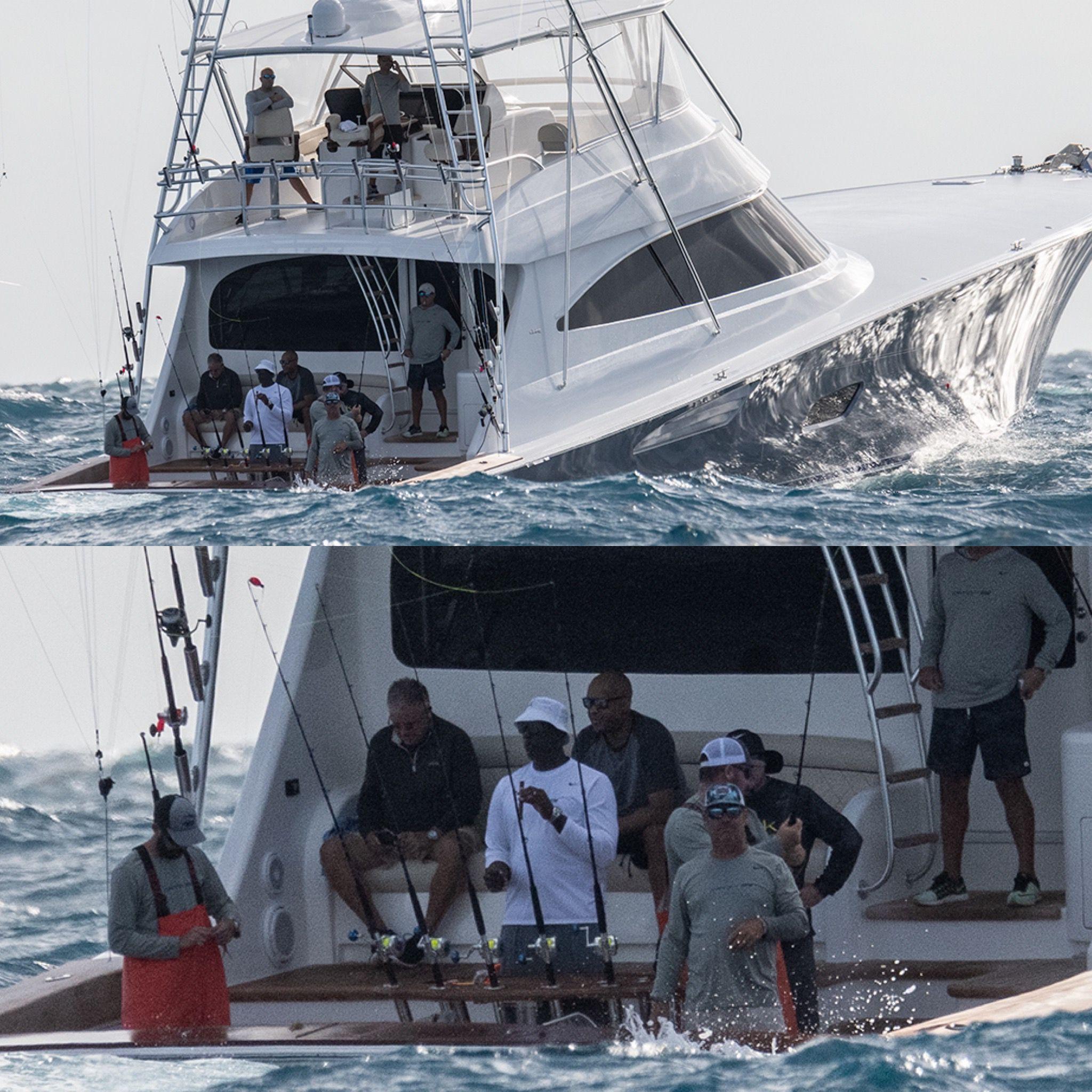 Photo Of Basketball Great Michael Jordan Fishing On His Boat