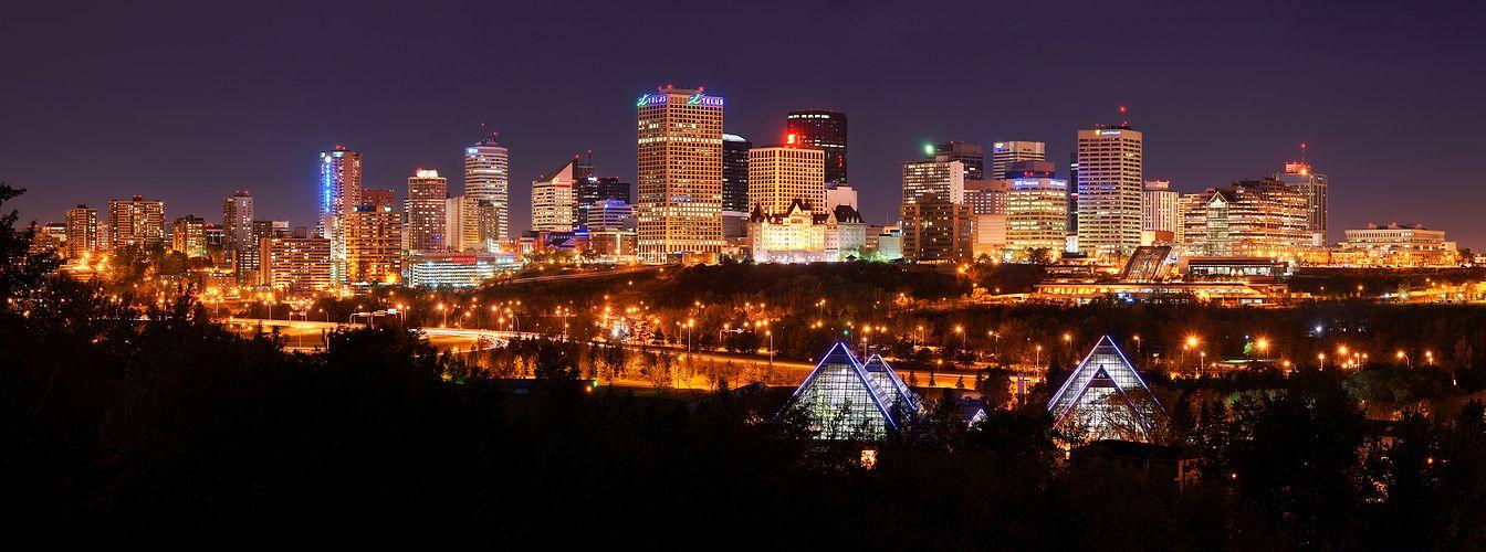 Edmonton Skyline Skyline, New york skyline, Travel