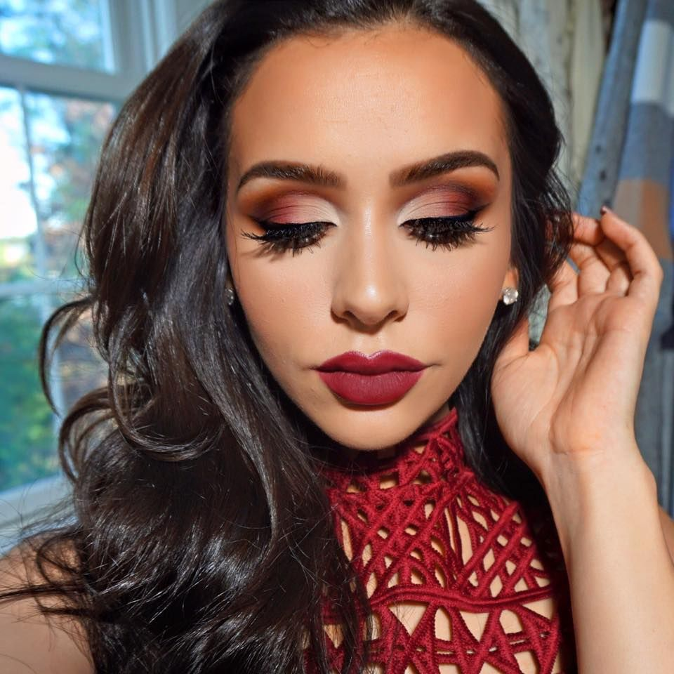 Cranberry smokey I love Carli Bybel Christmas makeup