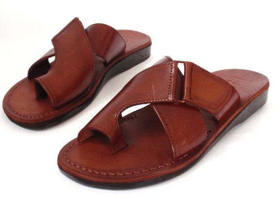 Mens leather sandals, Leather shoes men