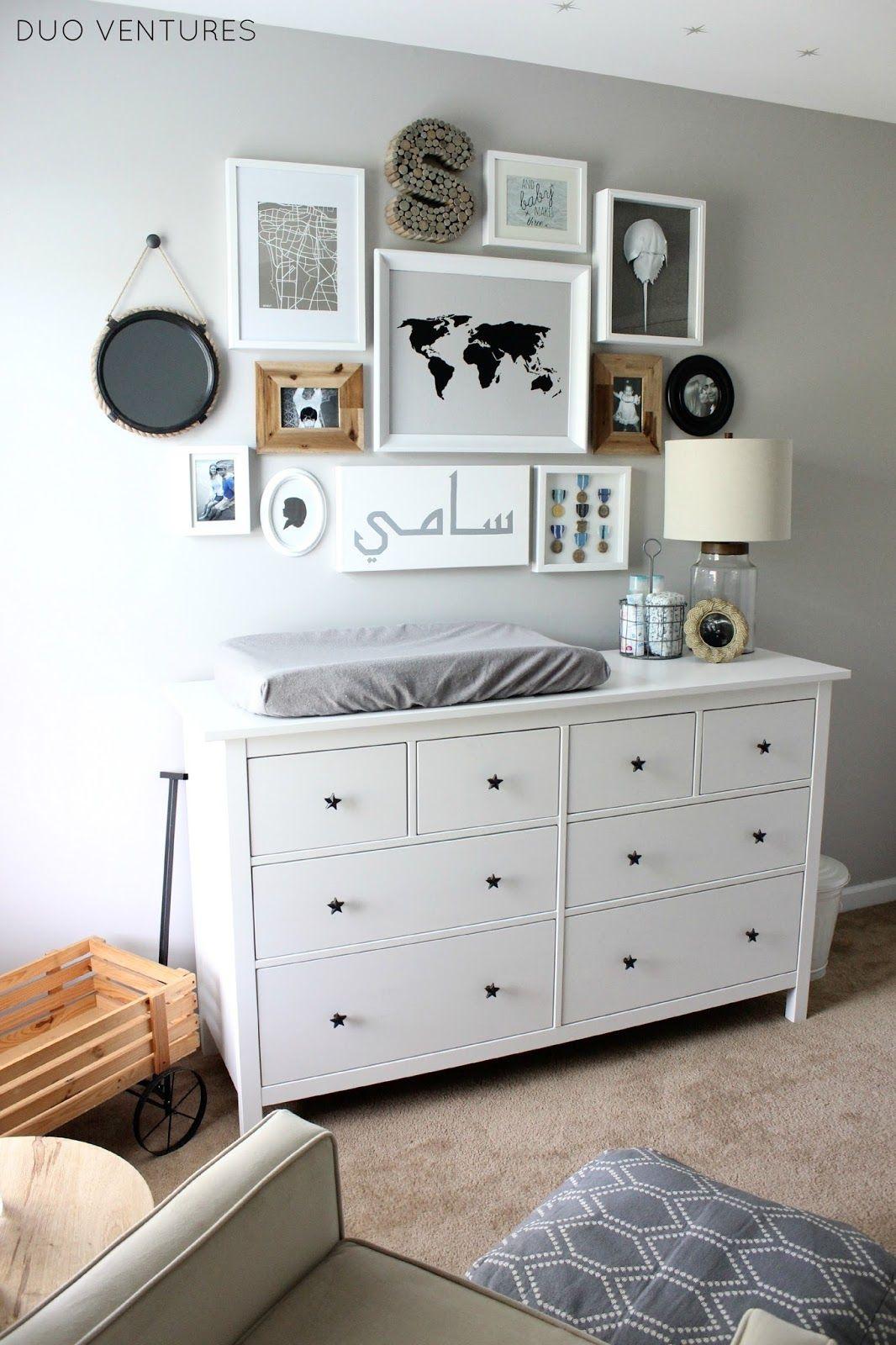 IKEA HEMNES Dresser + Star Pulls U003d Custom Dresser U0026 Changing Table