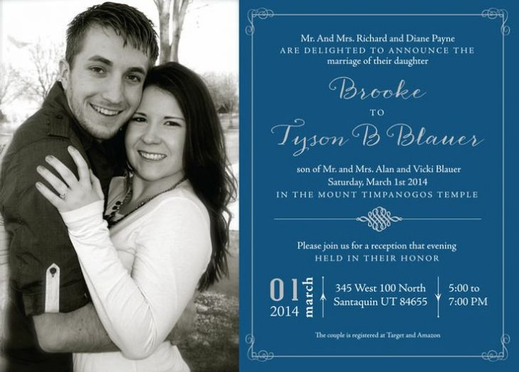 Lds Wedding Invitation Wording To Give Extra Inspiration In Creating