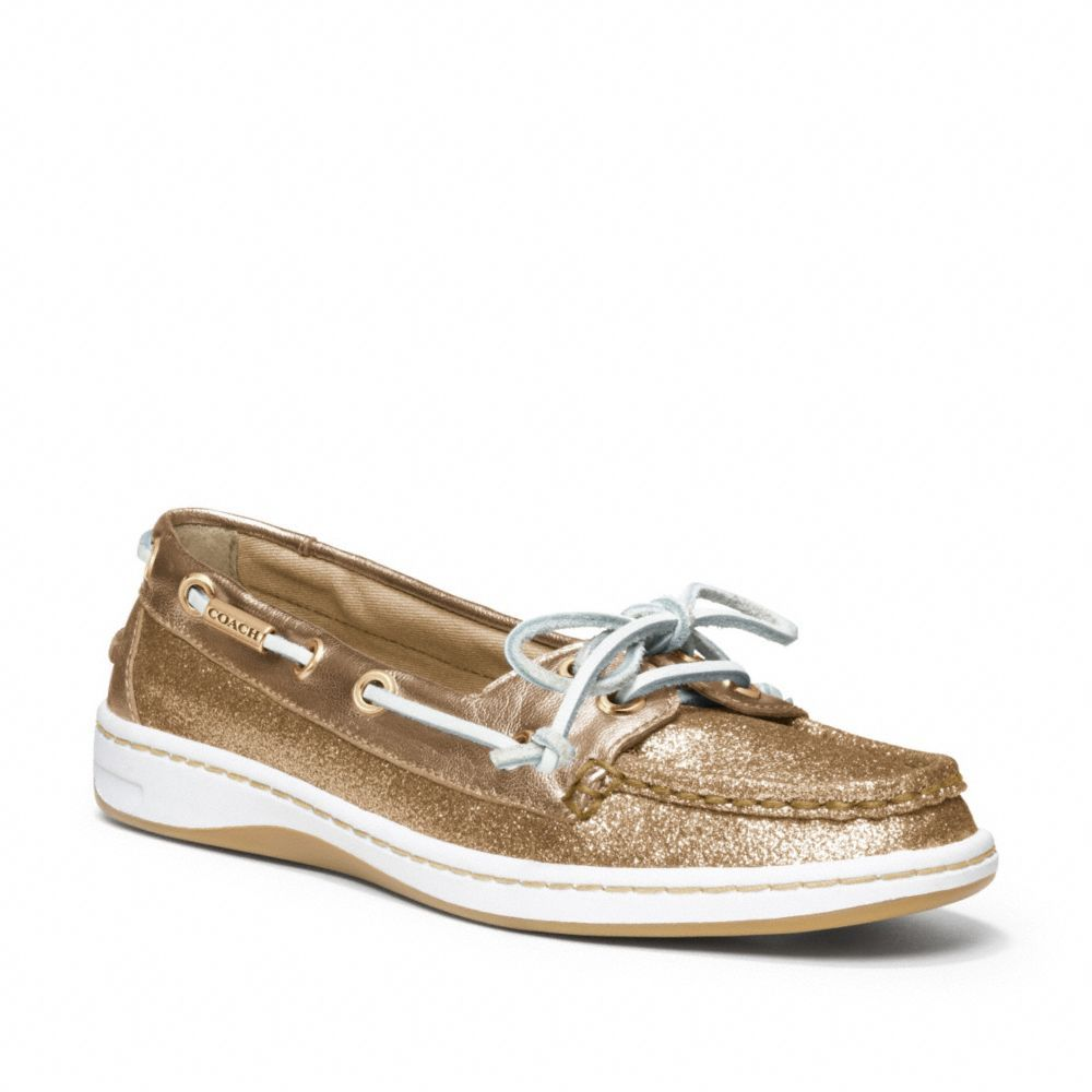 The Richelle Glitter Boat Shoe from Coach