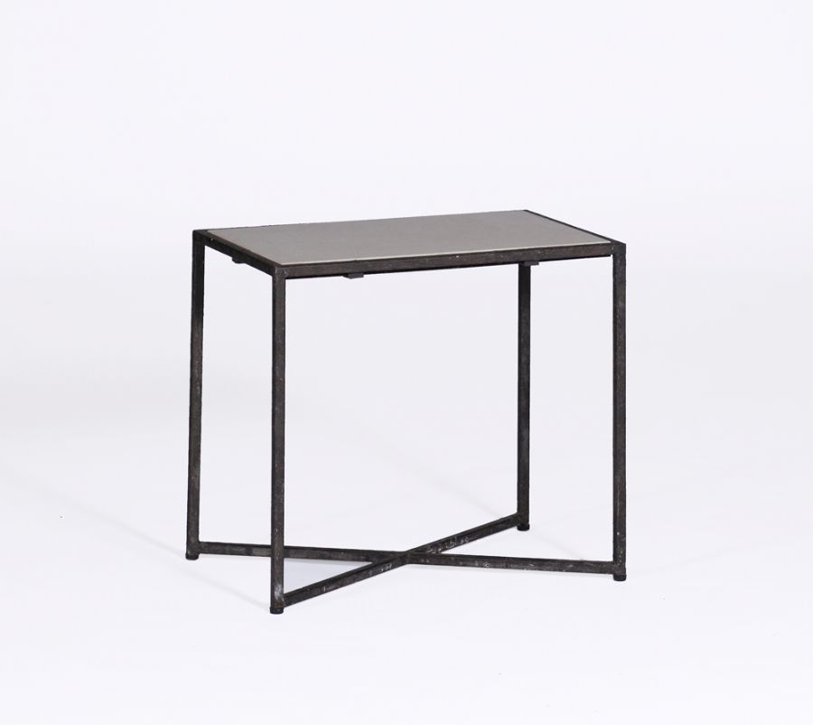 Giles Side Table | #GabbyDecor | Antique Style Furniture | Transitional Furniture This great architecturally inspired table effortlessly blends a rusty black iron frame with a honed marble top. The petite table pairs well with a wide range of styles from traditional to minimalist modern.