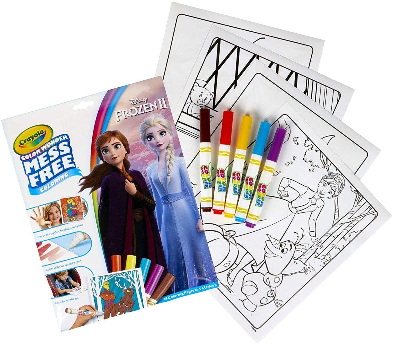 Crayola Color Wonder Frozen Coloring Book Markers Only 5 49 Color Wonder Frozen Coloring Book Markers
