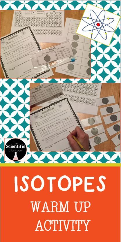 Atomic Structure-Isotopes Warm Up Activity Percents, Activities - new periodic table with atomic mass and isotopes