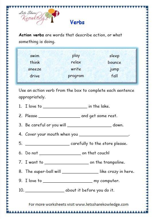 page 7 verbs worksheet (With images)   Verb worksheets ...