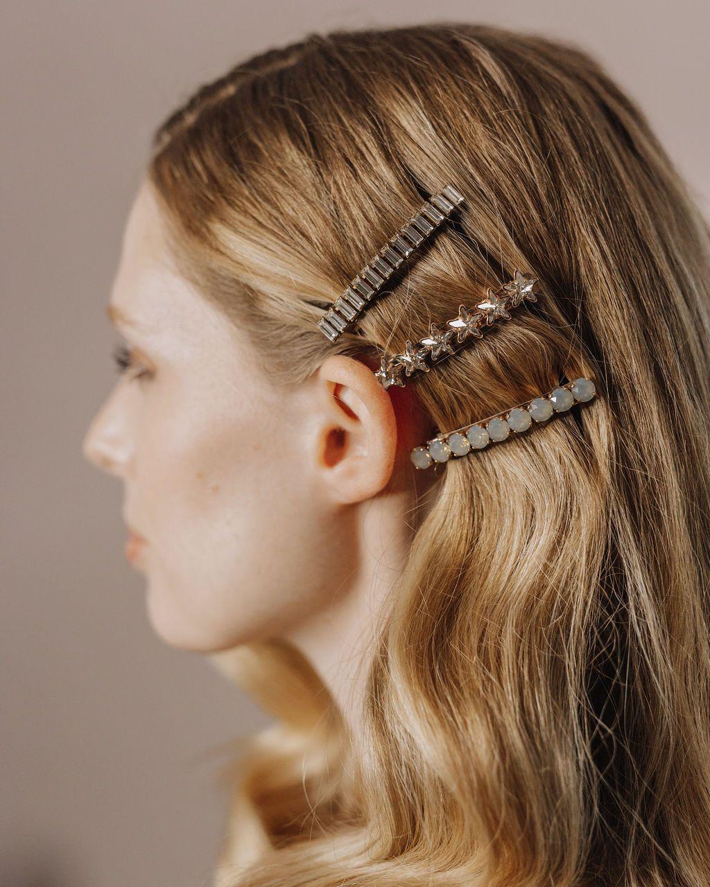 barrette hair clips   hair inspo in 2019   wedding hair