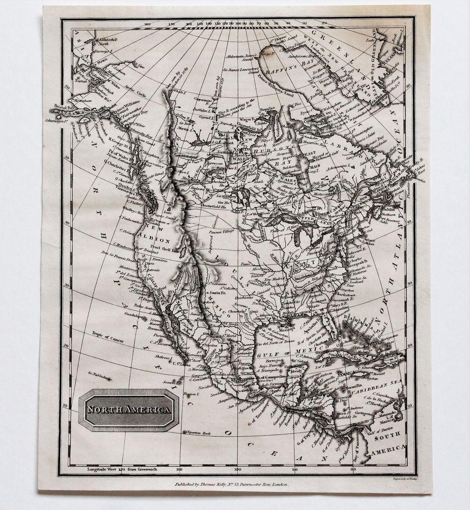 1817 United States Map New Albion Texas Louisiana Territory ...