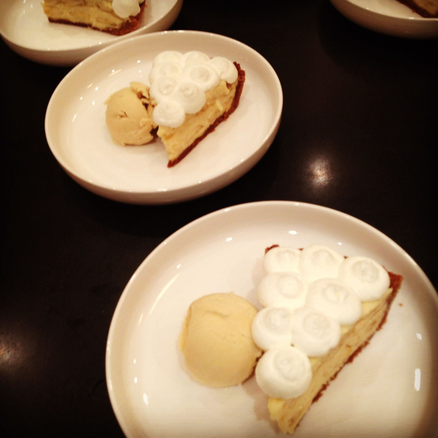 My banana cream pie from one of my first catering dinners!   http://emmaseatery.blogspot.ca/2012/05/best-pie.html