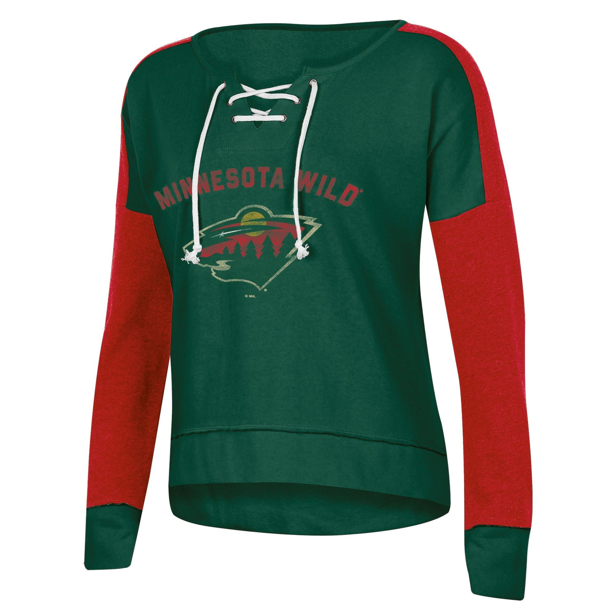 Minnesota Wild Women s Warming House Open Neck Fleece Sweatshirt XL ... 31b09c59e