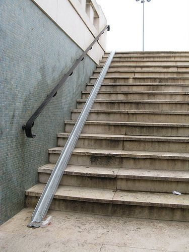 Picture Of Bike Ramp For Stairs Ramp Stairs Stairs Ramp