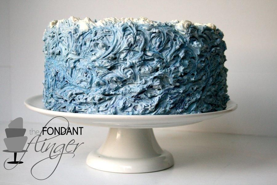 Buttercream Waves Cake Very Cool Ocean Cakes Wave