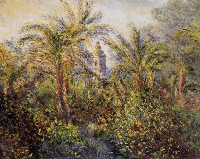 Garden in Bordighera, Morning Effect : Claude Oscar Monet : Museum Art Images : Museuma