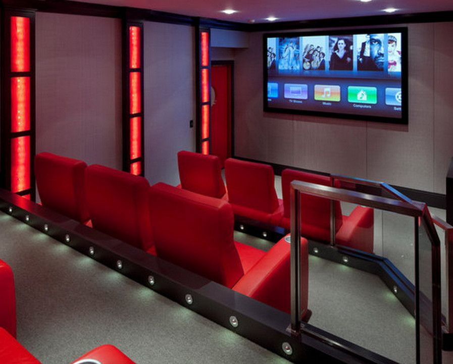 Home Theater Floor Lighting Home Theater Lighting Can Make A Movie Worth Watching Garden Design Media Room Design Home Theater Design Contemporary House