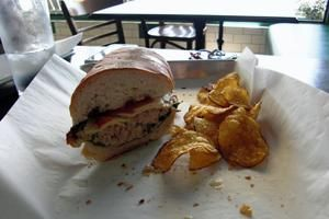 Potato Chips Sandwich Shop - The best Italian meats are piled high on fresh-baked sub loaves at the neighborhood cafe. Wine and cold beer wash it all down.