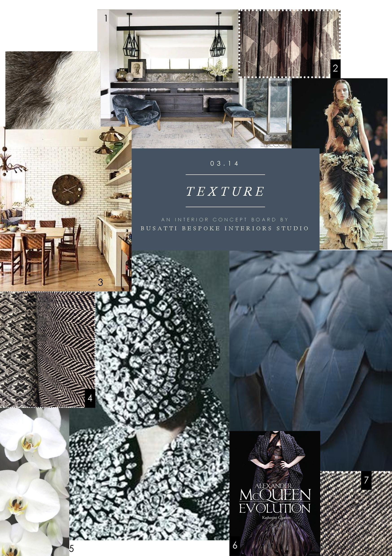 Interior concept board texture