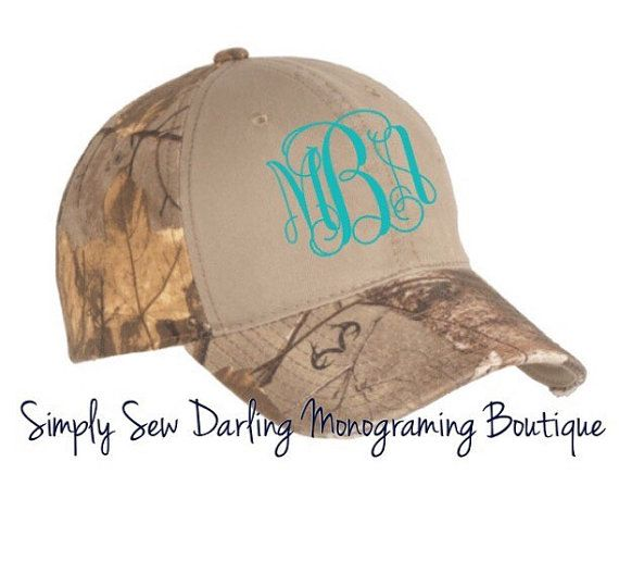 Personalized Monogrammed Khaki Camo Hat Cap by SimplySewDarling