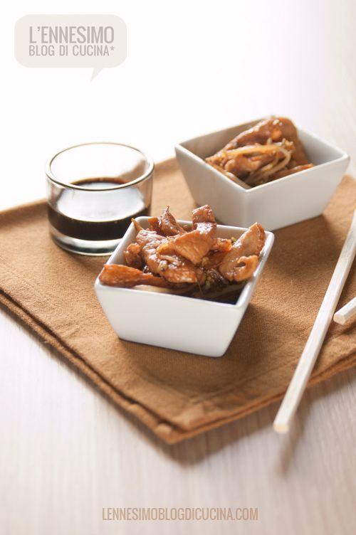 Straccetti di pollo con funghi e bambu Ricette, Idee