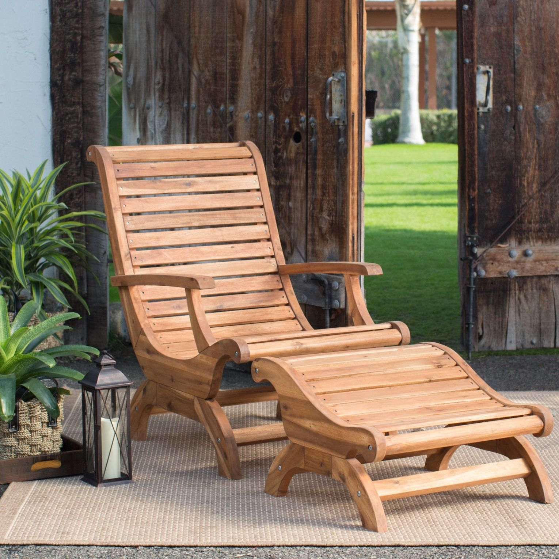 Belham Living Avondale Adirondack Chair And Ottoman Wooden