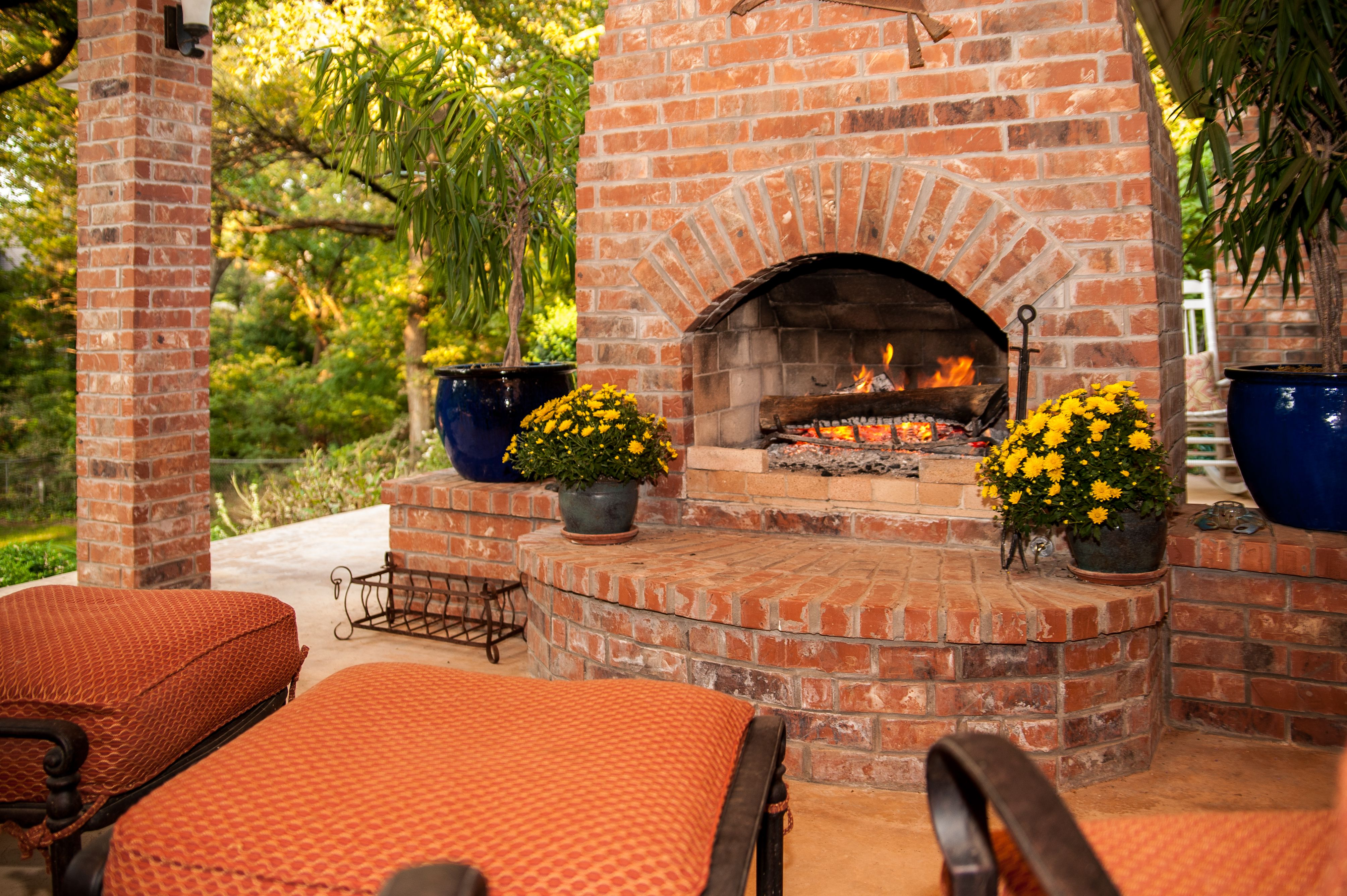 love this outdoor fireplace in oklahoma city okcrealestate rh pinterest co uk Chiminea Outdoor Fireplace Oklahoma Landscape