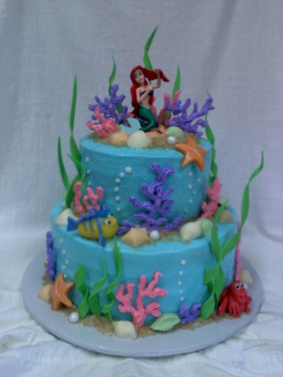 Strange Cake With Carrot And Ricotta Recipe Little Mermaid Birthday Funny Birthday Cards Online Alyptdamsfinfo