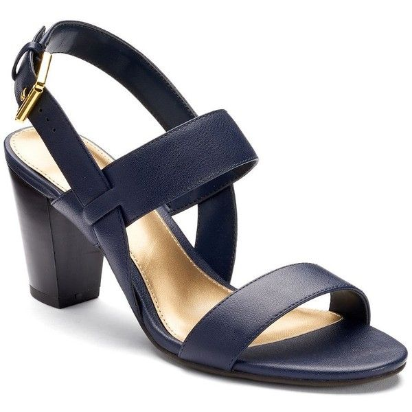 a89399cde00 Chaps Leona Women s Block Heel Sandals ( 35) ❤ liked on Polyvore featuring  shoes