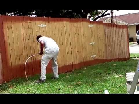 How Painting Wood Fence Fast Miami South Painting