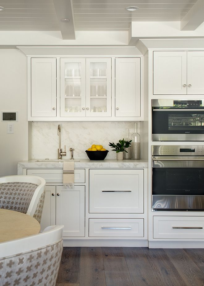 Creamy White Kitchen Cabinet Paint Color All White By Farrow And