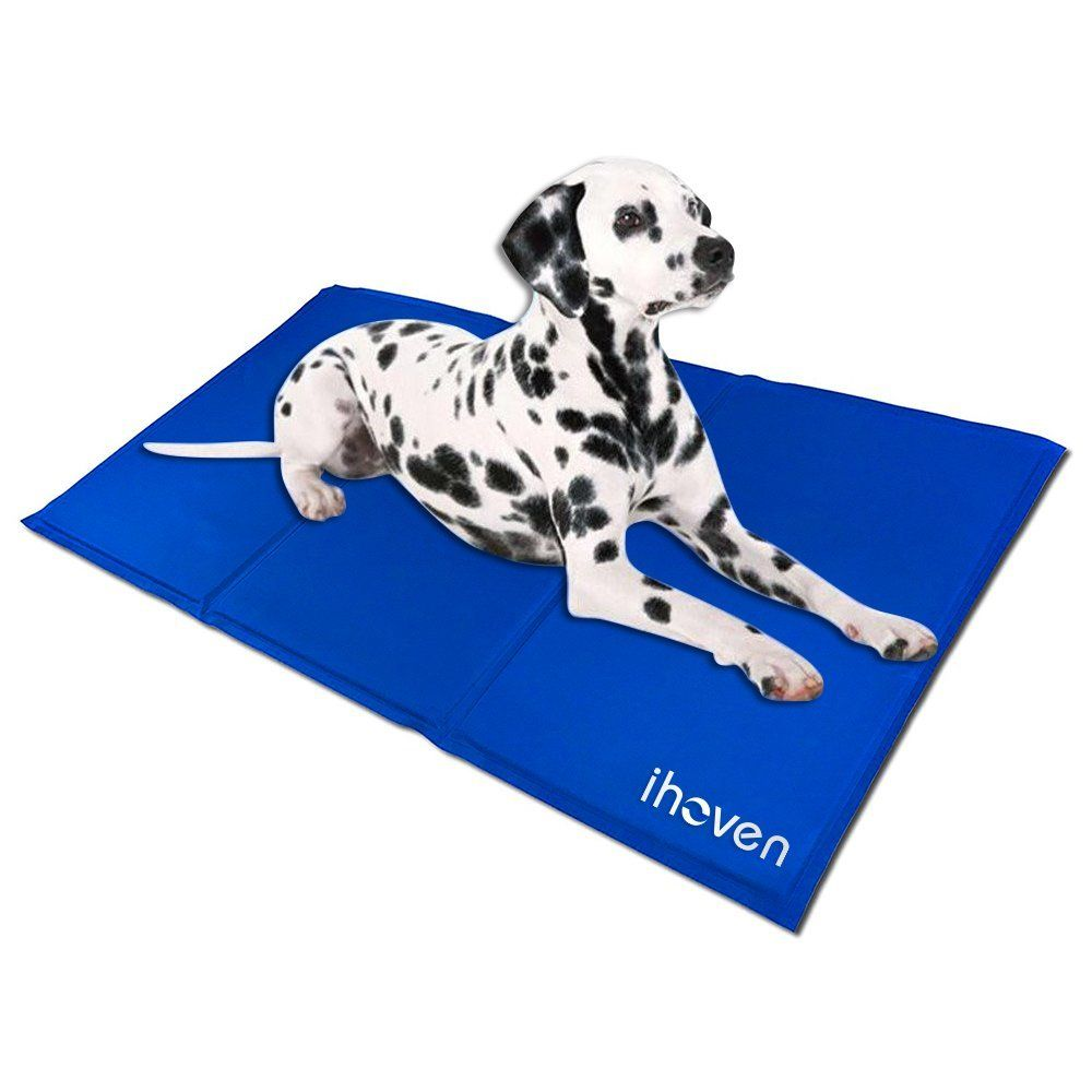 Ihoven Pet Dog Self Cooling Gel Mat Cat Chilly Ice Cooler Pad Bed Dogs Gelmat Pets Cold Pillow Beds Cats Coolmat Pads Perfect Fo Cat Bed Dog Diapers Cat Fleas
