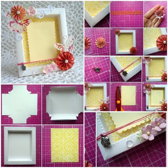 DIY Cute Cardboard Picture Frame | Pinterest | Cardboard picture ...