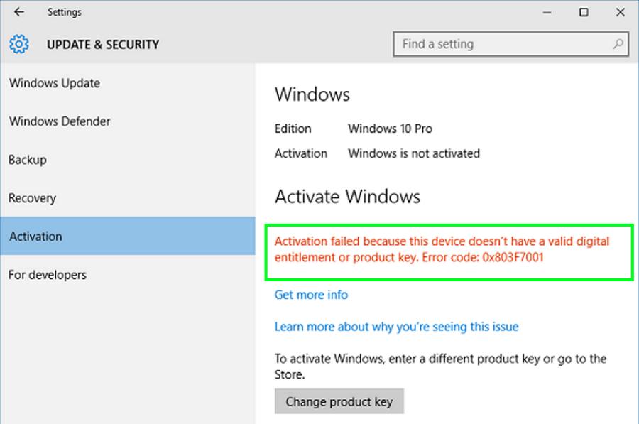 How to fix error 0x803f7001 in Windows defender, Coding
