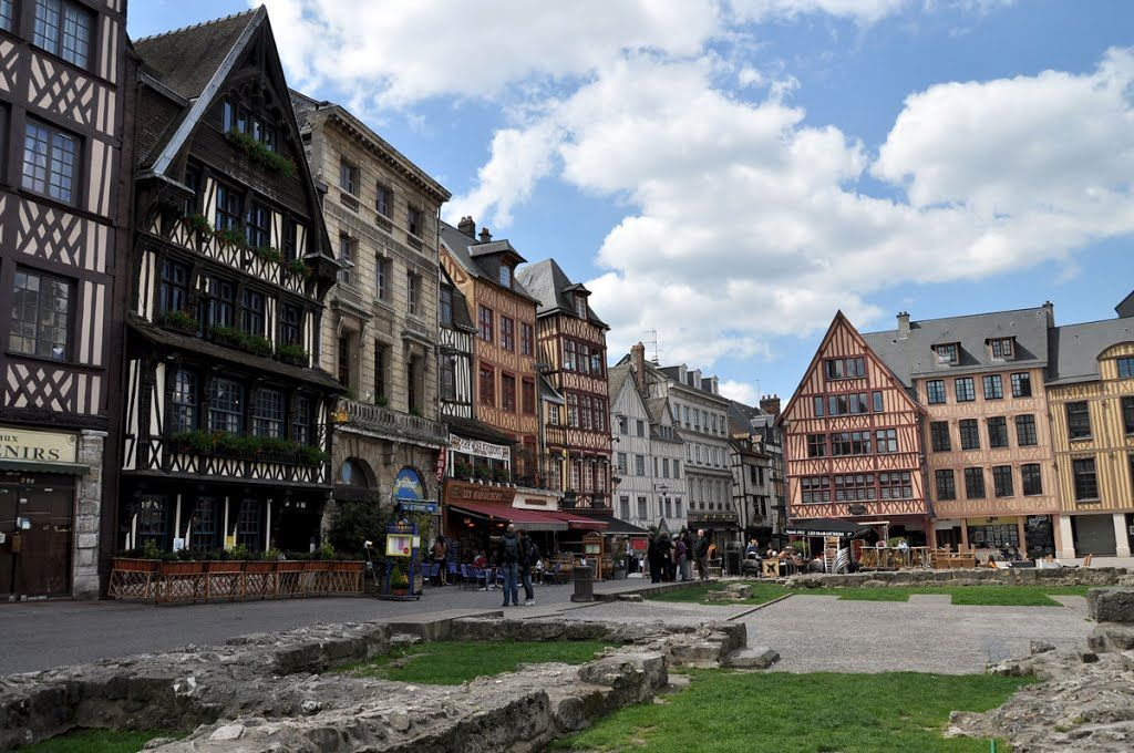 Rouen The Old Market Square - the place of execution of Joan of ...