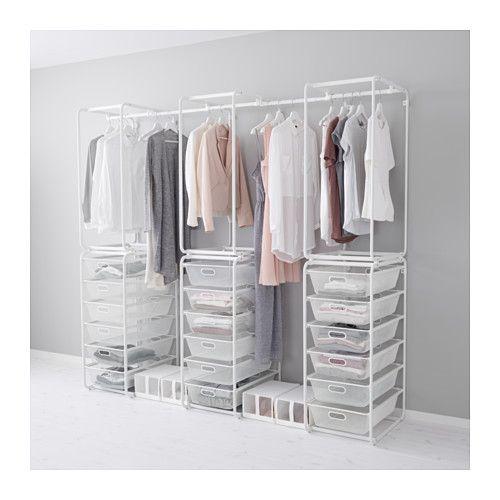 Begehbarer kleiderschrank ikea algot  IKEA - ALGOT, Rahmen/Netzdrahtkörbe/Stange   Haus   Pinterest ...