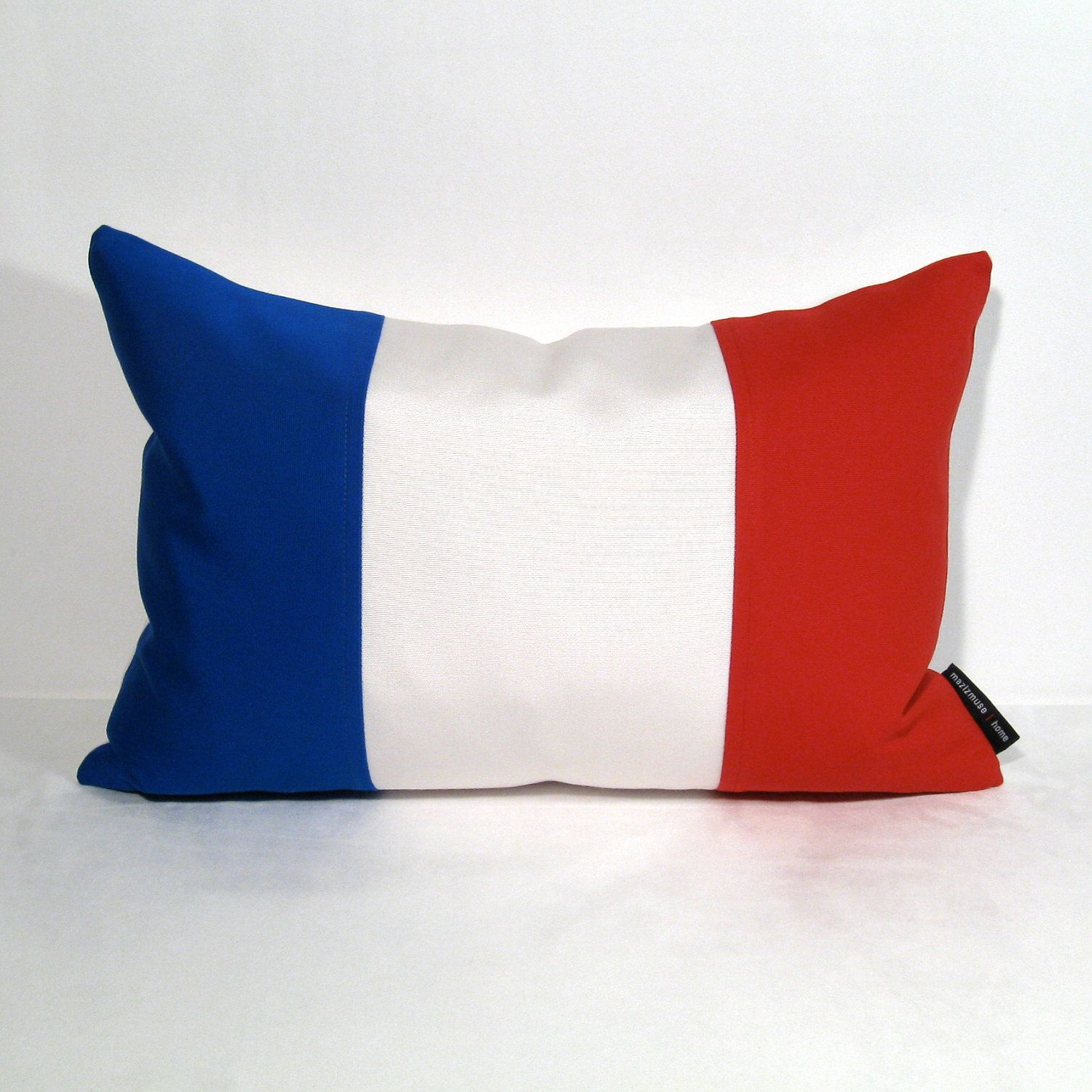 French Flag Pillow Cover, France Flag, Blue White Red, National Flag,  Paris, Sunbrella Outdoor Pillow Cushion Cover, Mazizmuse 12