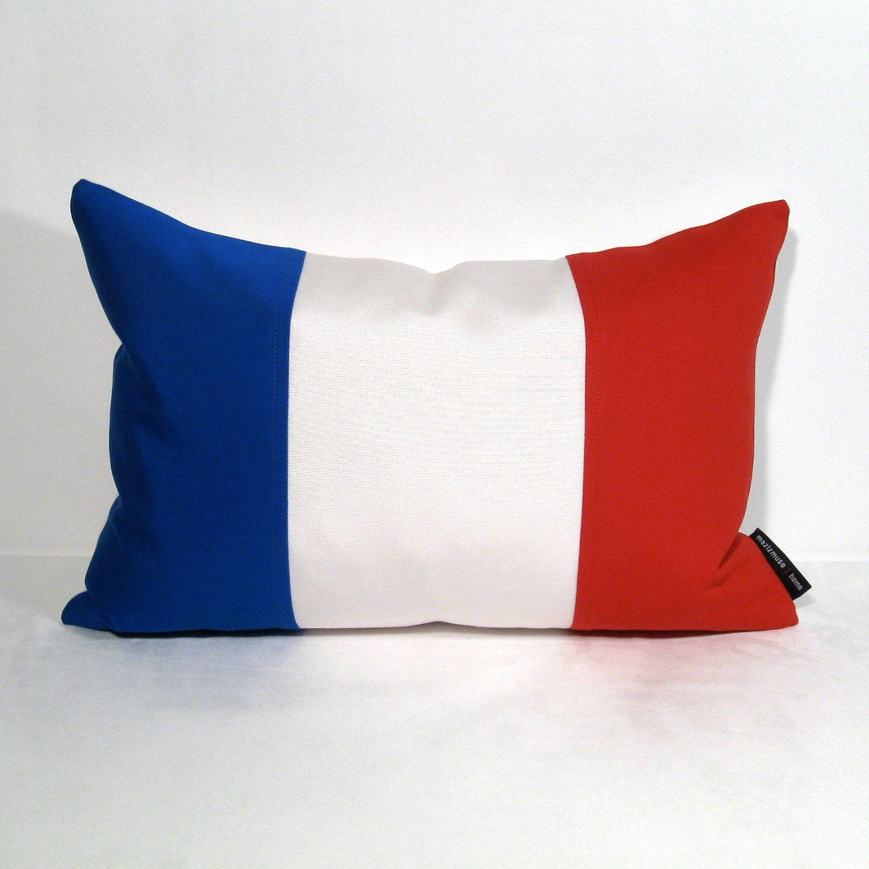 French Flag Pillow Cover, France Flag, Blue White Red ...