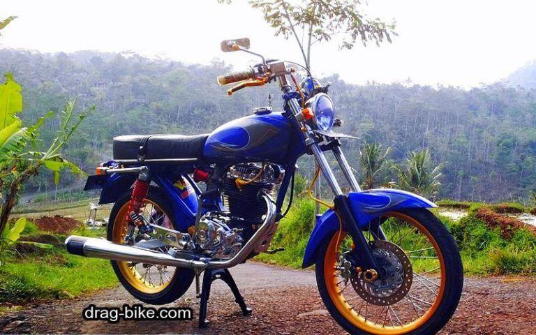 Modifikasi Motor Cb 100 Mesin Gl Pro Honda Cb Drag Bike
