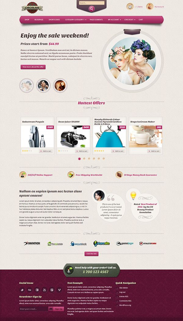 Circolare - Spa Ecommerce Theme - #spa #wellness #ecommerce #theme ...