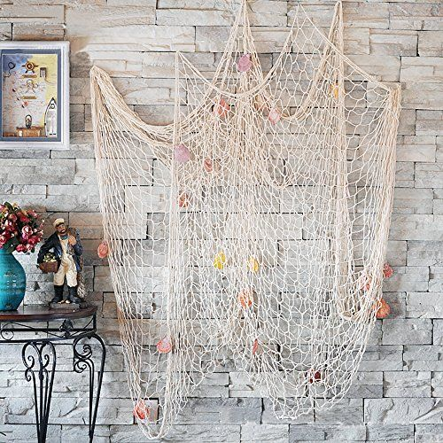 CoZroom Nautical Decorative Fish Net Pack with Seashells-... https://www.amazon.com/dp/B01JNZ5RE6/ref=cm_sw_r_pi_dp_x_-bX9xbHZSNTB6